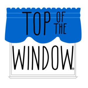 top of window logo dark